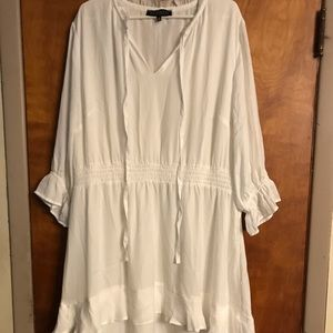 Eloquii Boho White Dress Size 24